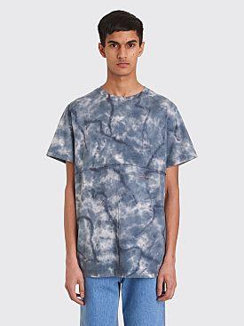 Eckhaus Latta Lapped T-shirt Inkblot Blue