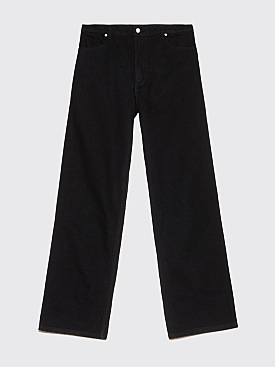 Eckhaus Latta Wide Leg Jeans Black
