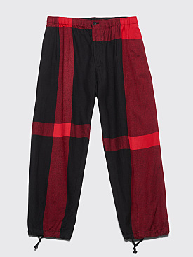 Engineered Garments Balloon Pant Big Plaid Red / Black
