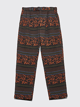 Engineered Garments Emerson Pants Black / Rust Floral Jacquard