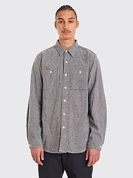 Engineered Garments Work Shirt Solid Flannel Grey