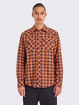 Engineered Garments Western Shirt Heavy Twill Plaid Orange