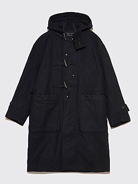 Engineered Garments Wool Melton Duffle Coat Black