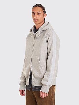Engineered Garments Fleece Hooded Zip Sweatshirt Grey