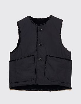 Engineered Garments Reversible Over Vest Black