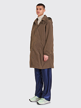Engineered Garments Waxed Cotton Ground Duster Olive