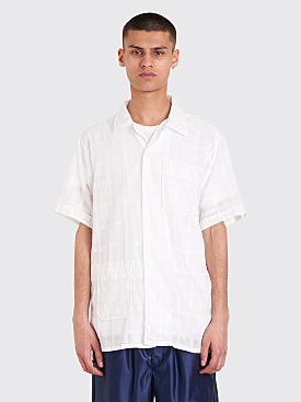 Engineered Garments Camp Shirt Dobby Check White
