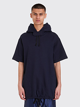Engineered Garments Short Sleeve Hooded Sweatshirt Dark Navy