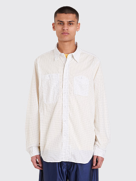 Engineered Garments Mini Polka Dot Lawn Shirt White