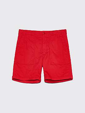 Engineered Garments Fatigue Shorts Red