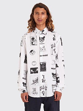 Fucking Awesome Cut Outs Dress Shirt White / Black