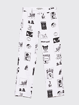 Fucking Awesome Cut Outs Work Pants White / Black