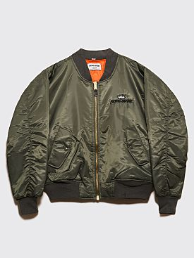 Fucking Awesome Indy Angel Bomber Jacket Military Green