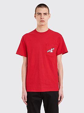 Fucking Awesome Cig Man Pocket T-Shirt Cardinal Red