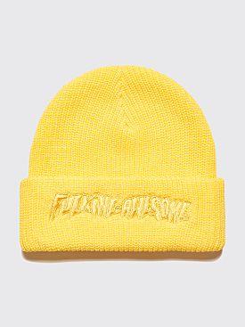 Fucking Awesome Tonal Logo Beanie Yellow