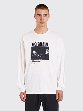 Fucking Awesome No Brain Long Sleeve T-Shirt White