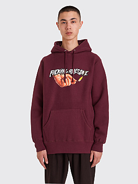 Fucking Awesome Pyro Hooded Sweatshirt Maroon