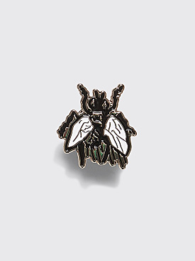 Fucking Awesome Flies Pin Silver