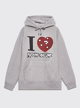 Fucking Awesome I Heart FA Hooded Sweatshirt Grey