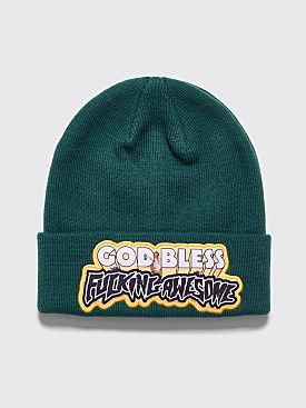 Fucking Awesome God Bless FA Beanie Green