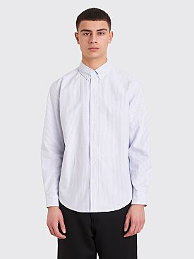 Fucking Awesome Cross Oxford Shirt White / Blue Stripe