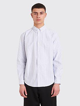 Fucking Awesome Cross Oxford Shirt White / Blue Stripe