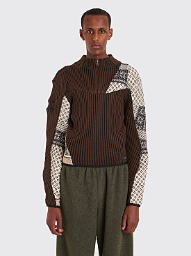 GmbH Arthur Reclaimed Knit Sweater Brown