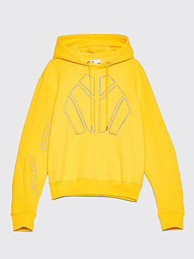 GmbH Dag Hooded Fleece Sweatshirt Yellow