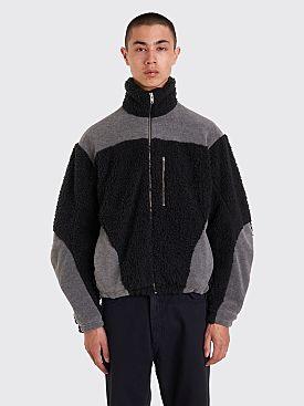 GmbH Teddy Two Tone Fleece Jacket Black / Grey