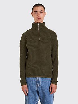 GmbH Moses Rib Knit Pullover Green