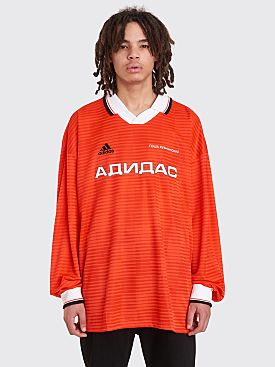 Gosha Rubchinskiy Adidas LS Jersy Polo T-Shirt Red