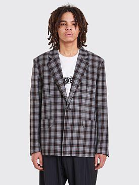 Gosha Rubchinskiy Check Suit Jacket Grey