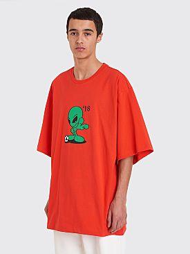 Gosha Rubchinskiy Alien Oversized T-Shirt Red