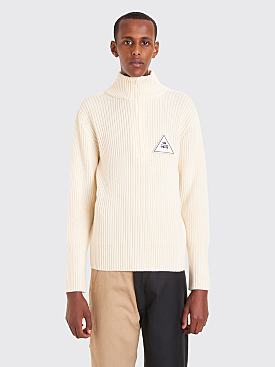 Gosha Rubchinskiy Zip Collar Knit White