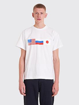 Gosha Rubchinskiy Flag T-shirt White