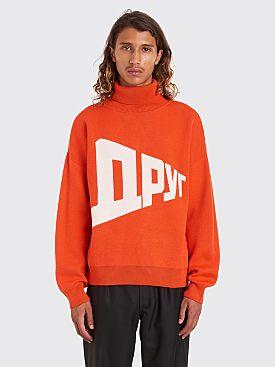 Gosha Rubchinskiy Graphic Knit Sweater Red
