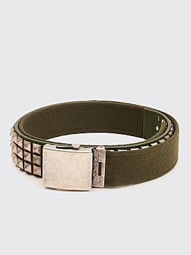 Gosha Rubchinskiy Studded Belt Army Green