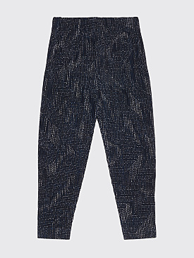 Homme Plissé Issey Miyake Pleated Tapered Pants Blue