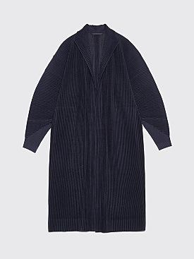 Homme Plissé Issey Miyake Pleated Kimono Coat Blue