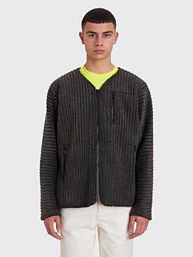 Homme Plissé Issey Miyake Pleated Fleece Jacket Grey