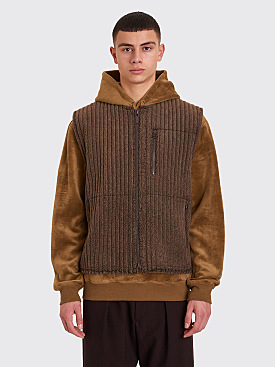 Homme Plissé Issey Miyake Pleated Fleece Vest Brown