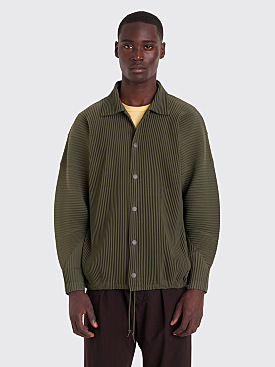 Homme Plissé Issey Miyake Pleated Coach Jacket Olive