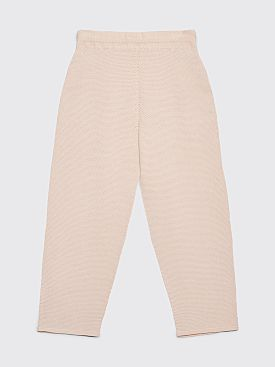 Homme Plissé Issey Miyake Structure Knit Pants Off-White