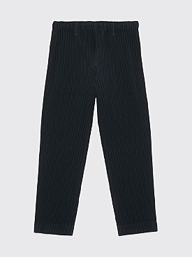 Homme Plissé Issey Miyake Pleated Narrow Pants Dark Green