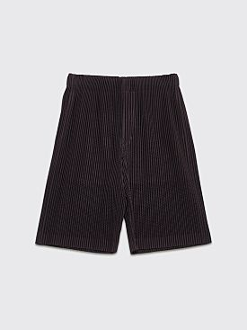 Homme Plissé Issey Miyake Pleated Shorts Dark Taupe