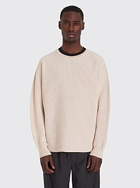 Homme Plissé Issey Miyake Structure Knit Sweater Off-White