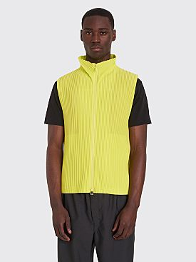 Homme Plissé Issey Miyake Pleated Vest Neon Green