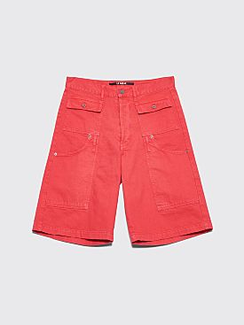 Jacquemus Pêcheur Shorts Faded Red