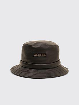 Jacquemus Le Bob Leather Bucket Hat Black
