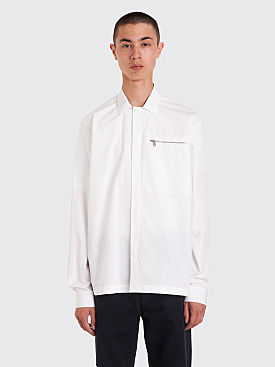 Jil Sander Risoluta Zipped Shirt White